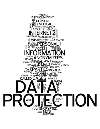 data protection act: Word Cloud with Data Protection related tags