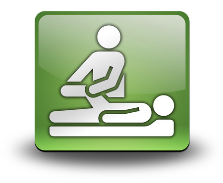 physiotherapist: Pictogram with Physical Therapy symbol