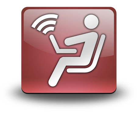 Icon, Button, Pictogram with Wireless Access symbol photo