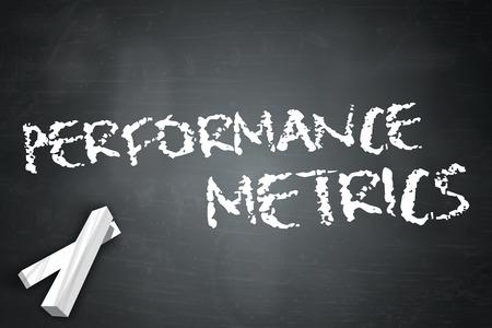metrics: Blackboard with Performance Metrics wording Stock Photo