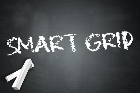 smart grid: Blackboard with Smart Grid wording