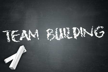 Blackboard with Team Building wording photo