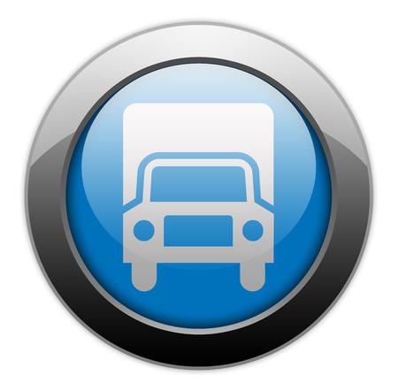 charter: Pictogram with Trucks symbol Stock Photo