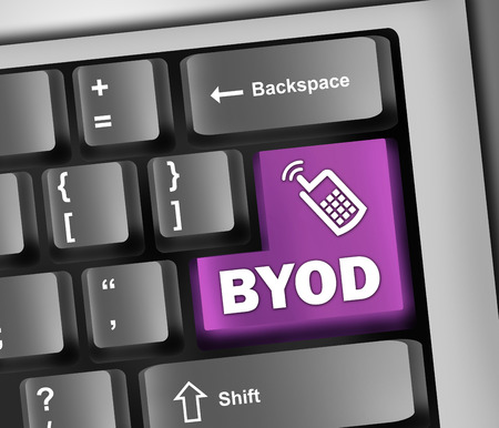 Keyboard Illustration with BYOD wording illustration