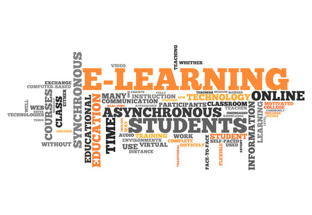 elearning: Word Cloud with E-Learning related tags