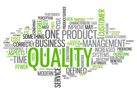 Word Cloud with Quality related tags