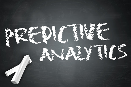 Blackboard with Predictive Analytics wording photo