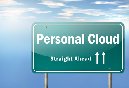 Highway Signpost with Personal Cloud wording photo
