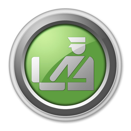 checkpoint: Icon, Button, Pictogram with Customs symbol