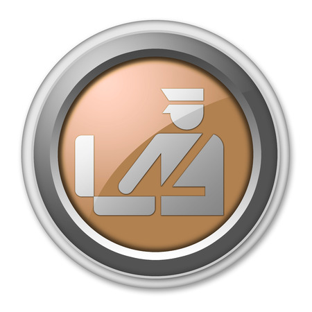 Icon, Button, Pictogram with Customs symbol photo