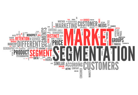 behavioral: Word Cloud with Market Segmentation related tags