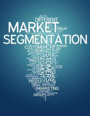 Word Cloud with Market Segmentation related tags photo