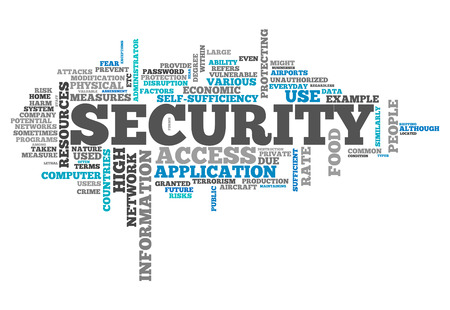 Word Cloud with Security related tags photo