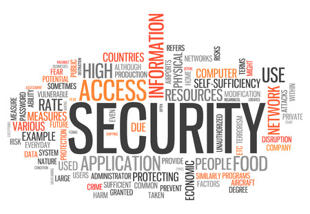 measures: Word Cloud with Security related tags