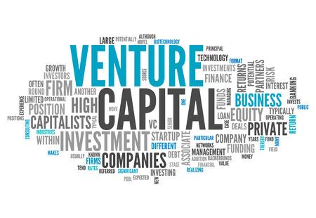 Balises Word Cloud avec Venture Capital liées Banque d'images - 27135711