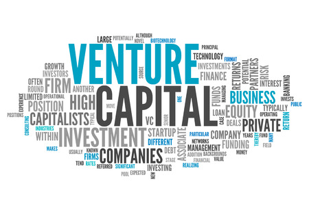 Word Cloud with Venture Capital related tags Archivio Fotografico
