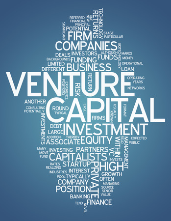 venture: Word Cloud with Venture Capital related tags Stock Photo