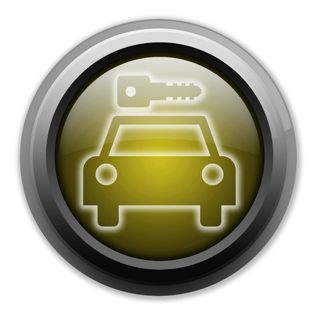 Icon, Button, Pictogram with Car Rental symbol Stock Photo - 27200989