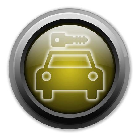 Icon, Button, Pictogram with Car Rental symbol Stock Photo - 27200989