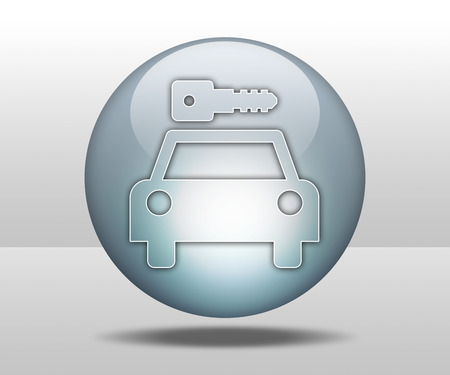Icon, Button, Pictogram with Car Rental symbol Stock Photo - 27200992