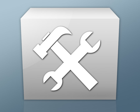 Icon, Button, Pictogram with Tools symbol photo