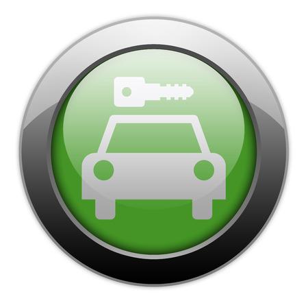 Icon, Button, Pictogram with Car Rental symbol Stock Photo - 27201000