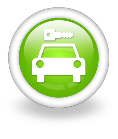Icon, Button, Pictogram with Car Rental symbol Stock Photo - 27201009
