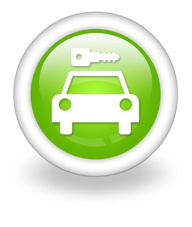 Icon, Button, Pictogram with Car Rental symbol Stock Photo - 27201009