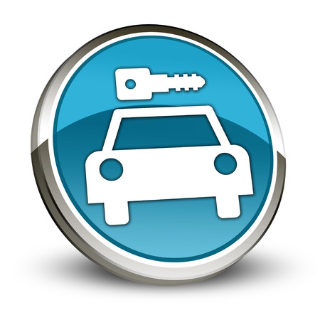 Icon, Button, Pictogram with Car Rental symbol Stock Photo - 27201030