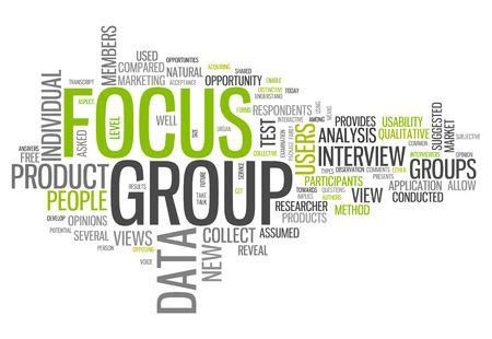 Word Cloud with Focus Group related tags photo