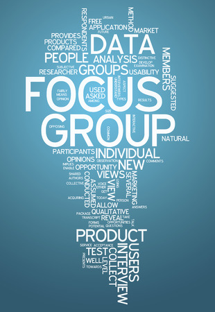 Word Cloud met Focus Group gerelateerde tags