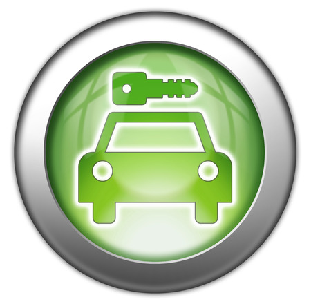 Icon, Button, Pictogram with Car Rental symbol Stock Photo - 27201098