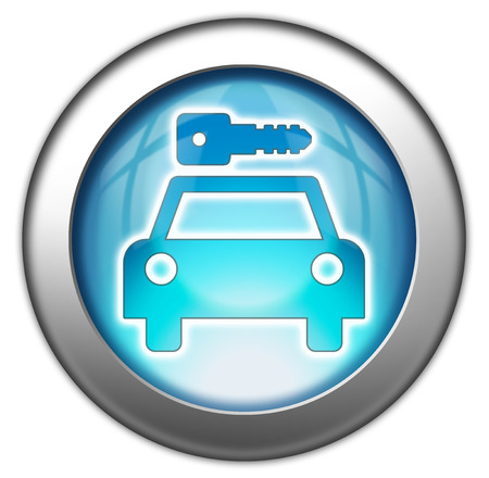 Icon, Button, Pictogram with Car Rental symbol Stock Photo - 27201101