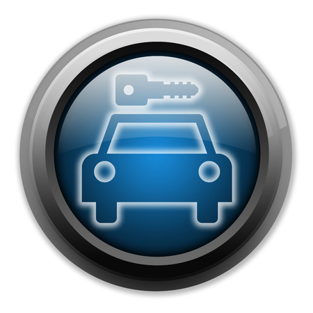 Icon, Button, Pictogram with Car Rental symbol Stock Photo - 27196182