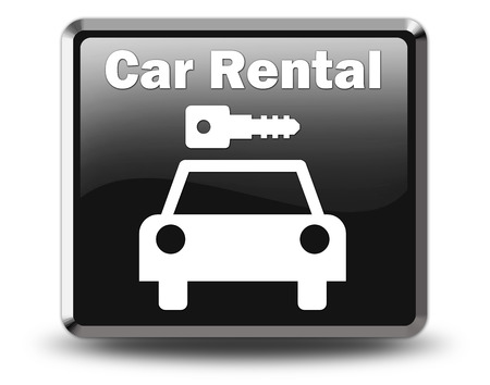 Icon, Button, Pictogram with Car Rental symbol Stock Photo - 27196224