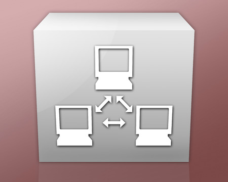 dsl: Icon, Button, Pictogram with Network symbol