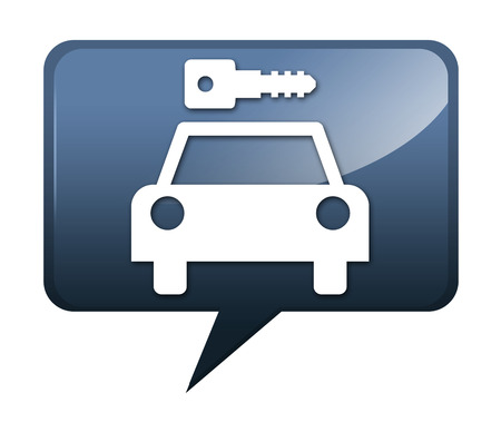 Icon, Button, Pictogram with Car Rental symbol Stock Photo - 27196246