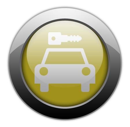 Icon, Button, Pictogram with Car Rental symbol Stock Photo - 27196286