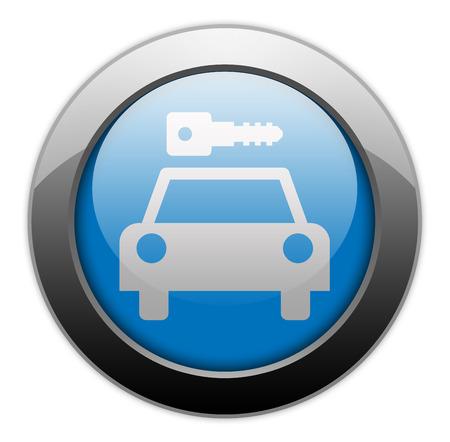 Icon, Button, Pictogram with Car Rental symbol Stock Photo - 27196296