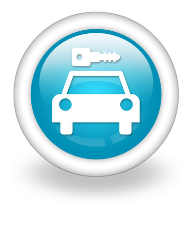 Icon, Button, Pictogram with Car Rental symbol Stock Photo - 27196339