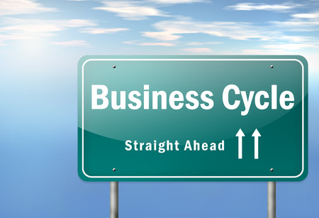 Highway Signpost with Business Cycle wording