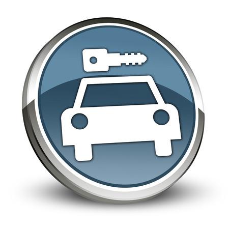 Icon, Button, Pictogram with Car Rental symbol Stock Photo - 27196345