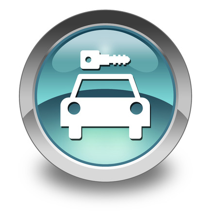 Icon, Button, Pictogram with Car Rental symbol Stock Photo - 27196415