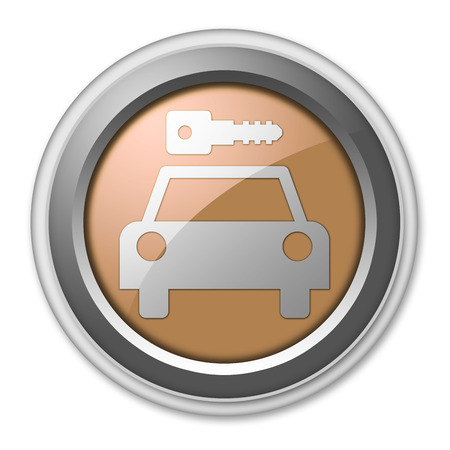Icon, Button, Pictogram with Car Rental symbol Stock Photo - 27196450