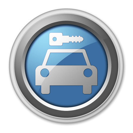 Icon, Button, Pictogram with Car Rental symbol Stock Photo - 27196502