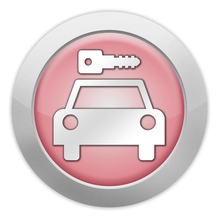 Icon, Button, Pictogram with Car Rental symbol Stock Photo - 27196506