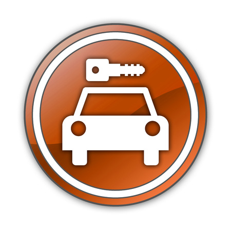 Icon, Button, Pictogram with Car Rental symbol Stock Photo - 27196544