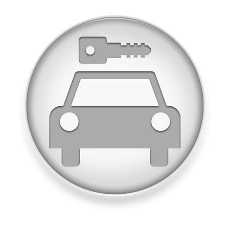 Icon, Button, Pictogram with Car Rental symbol Stock Photo - 27196671
