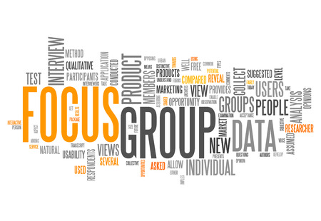 qualitative: Word Cloud with Focus Group related tags