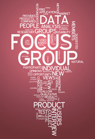 focus group: Word Cloud with Focus Group related tags
